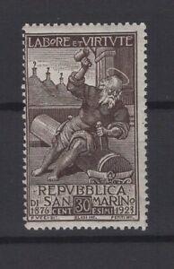 SAN MARINO, REPUBBLICA DI SAN MARINO, STAMPS, 1923, SASSONE 89 **