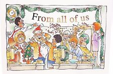 From All of Us Christmas Office Party Co-Worker Boss Holiday Group Card New