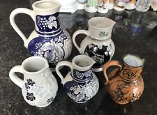 Lot Of 5 Antique Gertz W Germany Pitchers Collectible Pottery