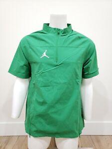 Nike Jordan Men's Woven Short Sleeve Hot Jacket CD2220-377 Green Size M