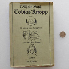 Tobias Knopp old 1940s German book illustrated comic verse Wilhelm Busch trilogy