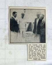 1949 John Langridge, Cricketer Talking To John Bartlett, T Matcham