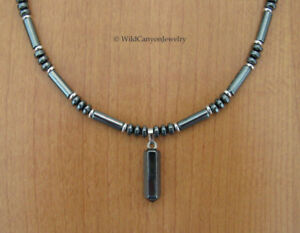 Hematite Stick Point Pendant Necklace