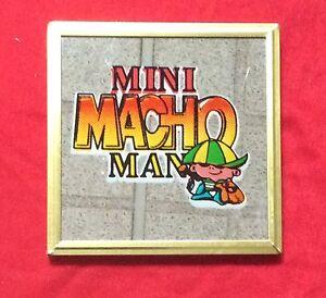"Mirror Decorative-Mini Macho Man Saying W Gold Frame Approx 4""X4"" NEW-RARE FIND"