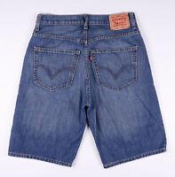 Vintage LEVI'S 569 Loose Fit Men's Blue Casual Denim Shorts W32 L23