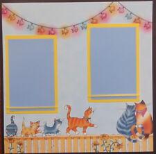 12X12 CAT KITTEN PET  PREMADE SCRAPBOOK PAGE LAYOUT MSND TONYA