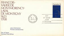 Francois-Xavier Montmorency-Laval De Montigny Canada First Day Cover (Stamp)