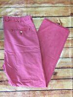 Peter Millar Pants Men's 34 X 30 Pink Flat Front