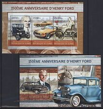 Guinea 2013 - Henry Ford Autos - Mustang 1970 - Tudor 1946 - Tin Lizzie 1915 **