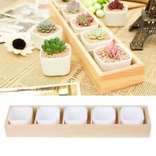 5-Grid Wooden Succulent Plant Fleshy Flower Pot Box Tray Decorative Containers
