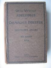 Otto Wenzels Adressbuch der Chemischen Industrie des Deutschen Reiches 1914