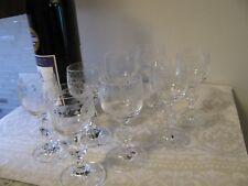 Czech Bohemian Cascade Cordial Glasses Set of 8
