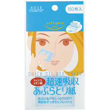 KOSE Softymo Quick Oil Off Sheet Oil Remover Blotting Paper 150 Sheets Japan