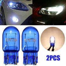 2x T20 7443 W21/5W Halogen White DRL Turn Signal Stop Brake Tail Light Bulb Blue