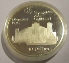 Canada Montreal Olympic 1976  Proof 10 Dollar  Silver Montreal Skyline 1973