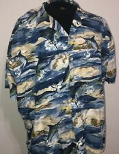 KAHALA Mens Hawaiian Shirt Size 2XL Marlin Fishing
