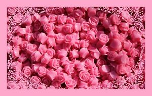 20 Roses Cabochon Pink Nostalgia High-Rise Rose Resin Retro Flower 9mm Flatback