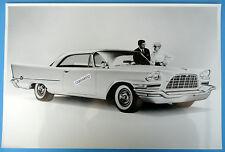 "12 By 18"" Black & White Picture 1958 Chrysler 300D 2 Door Hardtop"