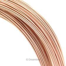 5ft 14k Rose Gold Filled Round Wire 28ga 28 Gauge (0.3mm) Dead Soft RFW100-03