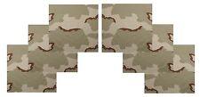 "6 PACK Tri Desert Camouflage LARGE Bandanas 27"" Cotton Camo Bandana Six Pack"