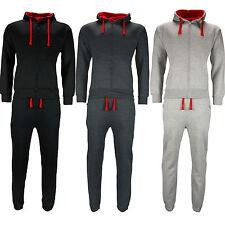 New Mens Full Tracksuit Set Fleece Hoodie Top Bottoms Jogging Joggers Gym Zip Up