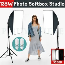 Photography Studio Continuous Lighting Softbox Video Soft Box Light Stand Kit AU