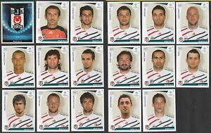 SET 17 FIGURINE CALCIATORI PANINI CHAMPIONS LEAGUE 2009-10 BESIKTAS