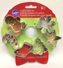 Wilton Wreath MINI Metal Cookie Cutter Set 6 pc Christmas Shapes