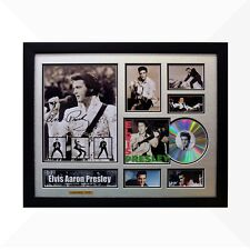 Elvis Presley Signed & Framed Memorabilia - 1CD - Silver/Black Edition
