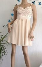 Jane Norman~Pre Loved ❤️Applique Daisy Gold  Party Dress~ Size 12~[R12]