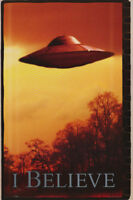LOT OF 2 POSTERS : SCIENCE FICTION :  I BELIEVE - UFO #2 - FREE SHIP#3381 RP89 N