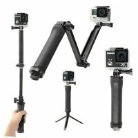 3 in1 Selfie Stick  for GoPro Hero 7 Black 4 Sports Camera Tripod/Monopod