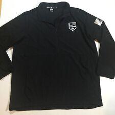Adidas LA Kings Mens Size XL Game Mode Quarter Zip Pullover Jacket In Black