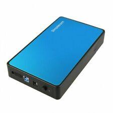 Simplecom BV2L238S5E 3.5 Inch USB 3.0 Hard Drive Enclosure - Blue