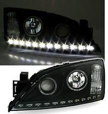 Scheinwerfer Set für Ford Mondeo MK3 LED TFL Optik Angel Eyes Schwarz
