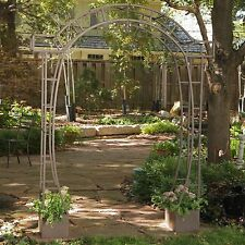 Brown Arched Metal Planters Arbor Home Living Outdoor Garden Patio Furniture