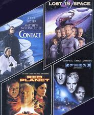 4 PG PG-13 sci-fi movies Contact, Lost in Space, Red Planet, Sphere, new DVD set