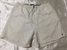 Polo Ralph Lauren Elastic Waist Drawstrings White Khaki Shorts - Men's Xlarge XL