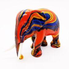 Elephant Orange Miniature Resin Wild Animal Figurine Antique Craft Collectibles
