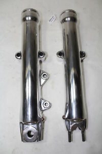FXDWG polished Harley Softail fork legs FXST Dyna Wide Glide '99 down EPS20497