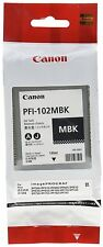 2 pack of Canon Original PFI-102MBK Pigment Matte Black Ink Cartridge 0894B001AA