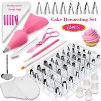 83PCS Cake Decorating Kit Piping Tips Set for Cupcake Baking Tools Decoration