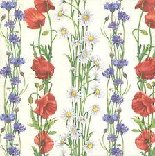 2 Serviettes en papier Guirlande Fleurs d'été - Paper Napkins Summer Flowers