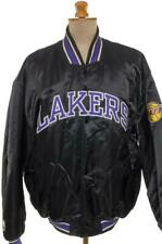 LOS ANGELES LAKERS STARTER JACKET BASKETBALL SATIN BOMBER VTG 90'S XL PRISTINE