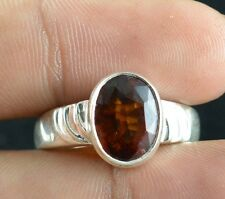 100% Natural Gomed Gemstone Rings 925 Sterling Solid Silver Rings