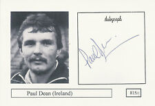 Paul Dean Ireland Rugby Player Signed Photo Card Original Autograph