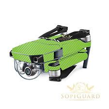 SopiGuard Green Carbon Skin Wrap Battery Controller for DJI Mavic Pro