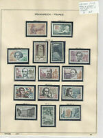 France 1963 MM+Used Stamps On 2 Pages  Ref: R6508