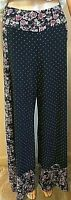 FARM Rio de Janeiro ANTHROPOLOGIE Black, Pink, White Floral Wide Bottom Pants XS