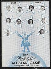 1959-60 Wilt Chamberlain Rookie 1st NBA All Star Game Program Nm/mt Unscored